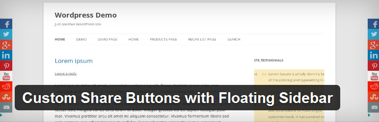 ustom Share Buttons with Floating Sidebar