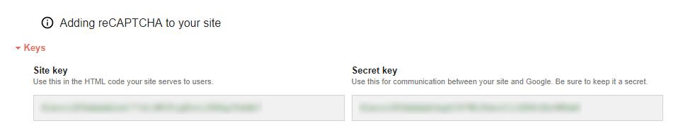 Google reCAPTCHA - API ključa